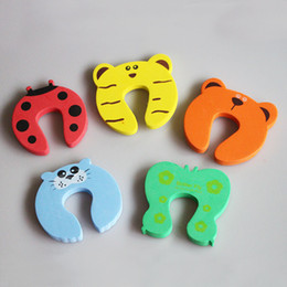 door stopper animals Australia - Child Safety Protection Baby Safety Cute Animal Security Card Door Stopper Baby Newborn Care Child Lock Protection From Children
