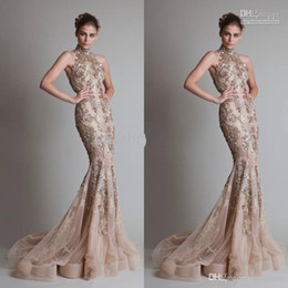 $enCountryForm.capitalKeyWord Australia - High Neck And Luxurious Silver Appliques Sexy See Through Organza Button Back Mermaid Trumpet Elie Saab Evening Formal Prom Dresses With