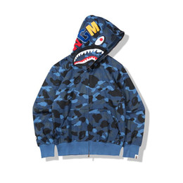 afb945154 Discount bape shirts - 19FW Non-flannel Japanese Chao Camouflage Terry  Cloth Card Zipper Animal