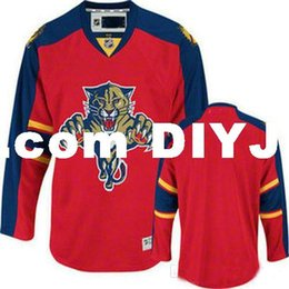 Discount florida numbers - Personalized Custom Hockey Jerseys Florida Panthers Red Customized Your Name Number