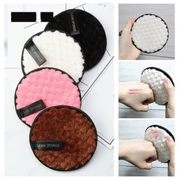 Wholesale Microfiber Cloth Pads Facial Makeup Remover Puff Cotton Double layer Face Cleansing Towel Reusable Nail Art Cleaning Wipe J1546
