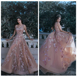 Sheer rhineStoneS prom dreSS online shopping - 2020 Sexy Spaghetti Lace Appliques A Line Prom Dresses Beaded Rhinestone Tulle Soft Ladies Special Occasion Party Gowns Floor Length Custom