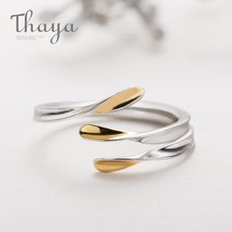 Ring Fit Women Australia - Thaya Unruly Gold Rings S925 Silver Open Contortion Simple Rings Comfort Fit Classic Jewelry For Women Natural Handmade Gift J 190430