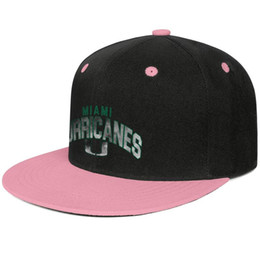 Golf Cores UK - Miami Hurricanes football Core Smoke logo Pink for men and women hip-hop flat brim cap cool fitted golf blank fashion baseball cute unique