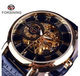 $enCountryForm.capitalKeyWord Australia - 2019 3d Logo Design Hollow Engraving Black Gold Case Leather Skeleton Mechanical Watches Men Heren Horloge