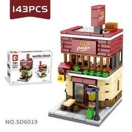Age Blocks Australia - Mini Street Scenery Building Blocks Puzzle Assembling Small Particles Building Blocks Children's Toys for Age 6 Up