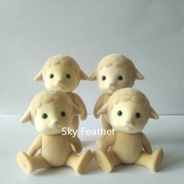 Role Play Toys Australia - 4pcs pack Sheep Without Cloth Sylvanian Family Figures Anime Cartoon Figures Dolls Toys Child Toys Gift Diy Role Play Gift Y190604