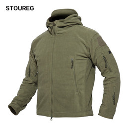 Hunting Hoodies online shopping - Outdoor Soft Shell Fleece Jackets Men s Military Tactical Jackets Army Sportswear Thermal Hunting Hiking Sport Hoodie Jackets T190919
