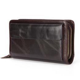 $enCountryForm.capitalKeyWord NZ - Business Genuine Leather Clutch Wallet Men Long Leather Phone Bag Purse Male Large Size Handy Coin Wallet Card Holder Money Bag J190719