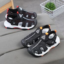 Sandals For Infant Boys Australia - New desinger children kids infant shoes summer baby sandals sandals beach slippers for baby boys cover toes ginoble free shipping