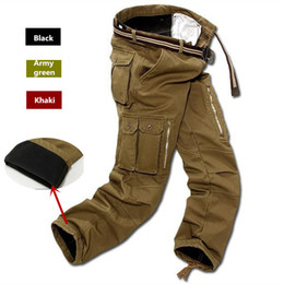 $enCountryForm.capitalKeyWord NZ - Men Fleece Cargo Pants Winter Thick Warm Pants Full Length Multi Pocket Casual Military Baggy Tactical Trousers Plus Size 29-40 Y19042201
