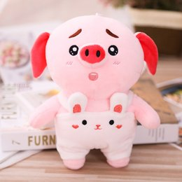 Hot Sale Kids Toy Plush Backpack 3d Pink Pig Animal Cartoon Cute Soft Schoolbag For Boy Girls Baby Childs Birthday Christmas Gift Attractive And Durable Plush Backpacks Toys & Hobbies