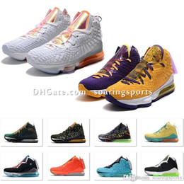 lebron basketball shoes size NZ - Cheap new mens lebrons 17 XVII basketball shoes for sale retro lebron james 17s MVP BHM Oreo kids women sneakers boots Size US7-12 soaring