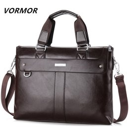 $enCountryForm.capitalKeyWord Australia - Vormor 2019 Men Casual Briefcase Business Shoulder Bag Leather Messenger Bags Computer Laptop Handbag Bag Men's Travel Bags J190702
