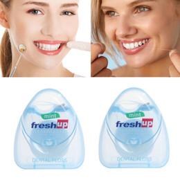 Portable Toothpicks Australia - Wholesale Portable 50M Micro Wax Dental Floss Interdental Brush Teeth Stick Toothpicks Floss Pick Oral Hygiene Clean Wire