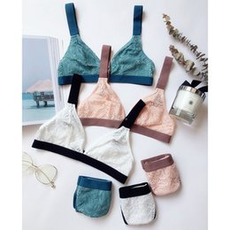 Sexy Wide Strap Bras Australia - Sexy Lace Unlined Thin Vest Triangle Cup Seamless Lingerie Wide shoulder Push Up Bra Adjusted-Straps Hollow Out Floral Underwear