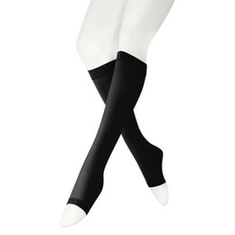 114c5acbb444c Opaque Compression Socks Knee High Length Medical Graduated Stocking 20-30  mmHg Firm Support - Open Toe - Unisex Surgical Socks