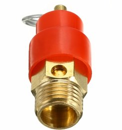Brass Needles Australia - 1 4'' BSP 120PSI Air Compressor Safety Relief Valve Pressure Release Regulator 9mm Diameter For Pressure Vessels