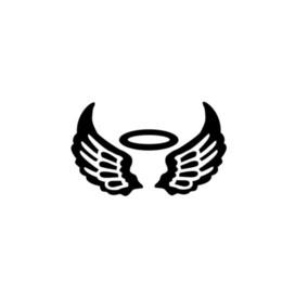 Sticker Angel Wings Australia - Angel Wings Halo Car Window Vinyl Decal Sticker Motorcycle Bumper Car Window Laptop Car Stylings