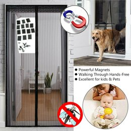 Wholesale Hands Free Screen Net Door with magnets Anti Mosquito Bug Curtain