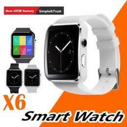 $enCountryForm.capitalKeyWord NZ - New X6 Smart Watch with Camera Touch Screen Support SIM TF Card Bluetooth men Smartwatch for iPhone Xiaomi Android Phone