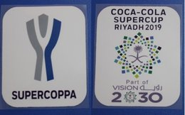 soccer badges patches Canada - SuperCoppa Patch Coca - Cola SuperCup Riyadh 2019 Part of Vision 2030 Soccer patch Top quality soccer badge free shipping