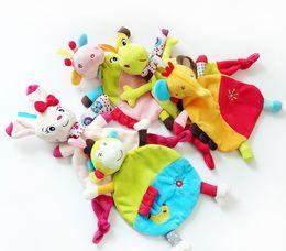 ElEphants baby online shopping - 5Style Newborn Infant Baby Soft Towel Soft Skin Deer Cat Frog Monkey Elephant Comfort Appease Plush Rattles Toy Animals Comforting Blanke C3
