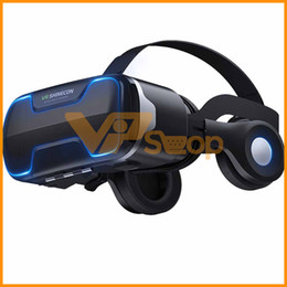 3d virtual glasses Canada - VR Shinecon G02ED Earphone Headset Stereo 3D Virtual Reality Glass Smartphone VR Box For Android IOS Samsung iPhone Cellphone