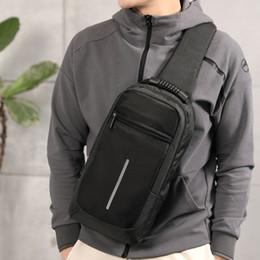 Vertical Pack Australia - Men Sling Bag Chest Messenger Bag Usb Charging Big Capacity Soft Canvas Shoulder Bags Men Pack Crossbody Vertical Square Bag