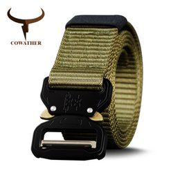 casual belts for jeans Canada - wholesale nylon belt newest men belts military outdoor tactical male jeans belts for men luxury casual male strap 130 150 170cm