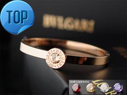 Coral Beads China Australia - 2019 High Celebrity design Letter Metal Buckle diamond bracelet Fashion Metal Clover Cuff bracelet Jewelry With Box