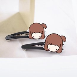 Discount big white wigs - 2*6cm Acrylic big brand black and white two-color hairpin claw clip one word clip wigs hairpiece fashion jewelry counter