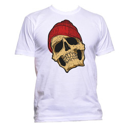 $enCountryForm.capitalKeyWord Australia - Skull With Beanie Unisex T-Shirt Mens Womens Fashion Comedy Cool Funny Hipster size discout hot new tshirt Tees Custom Jersey t shirt