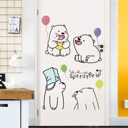 $enCountryForm.capitalKeyWord Australia - Cute lazy bear wall stickers children's bedroom living room decoration self-adhesive removable wall stickers decorative stickers popular fas