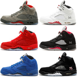 5 5S Mens Wings Light Aqua Basketball Shoes International Flight Camo Fire  Red Oreo Red Blue Suede Sports Designer Shoes Sneakers 8-13 b1ed86146