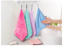$enCountryForm.capitalKeyWord Australia - Kitchen towel hanging type super absorbent candy color thickening hand towel