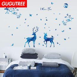 $enCountryForm.capitalKeyWord Australia - Decorate Home trees star deer cartoon art wall sticker decoration Decals mural painting Removable Decor Wallpaper G-2057