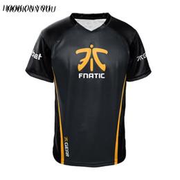 Wholesale fn online – design Dota2 Csgo Lol Champion Fn Game Team Fnatic Jersey T Shirt O Neck Casual Tees Game Athletics Men Women Fnatic T Shirt Trend