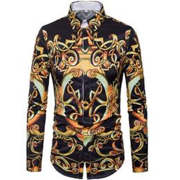 Stage Shirts NZ - Spring summer 2019 new menswear trend royal stage avant-garde long-sleeved digital 3D printed men's shirt CS9050
