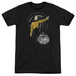 star trek shirts 2019 - Star Trek Data 30 Tng Adult Ringer T Shirt Where's Waldo Looking For Me Licensed Junior T Shirt Star Trek Mirror Pi
