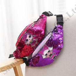 Princess chest online shopping - 2019 Surprise Girls Designer Fannypack Belt Chest Bag Pack Cartoon Mermaid Sequins Waist Bag Princess Coin Purses Wallet Hip Bum Bag B71704