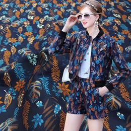 $enCountryForm.capitalKeyWord Australia - 160cm width high end blue leaf print Jacquard Brocade Fabric, jacquard dress fabric upholstery fabric bag tent sewing material
