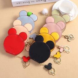 Flattest Mouse Australia - Wholesale 7 colors Mouse Ear Wallet Zipper Key Card Holder Coin Purse Child mini Phone Money Pouch Kids Shoulder Bags Cartoon Storage Pouch
