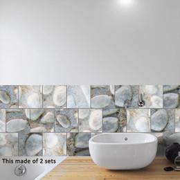 Tiles Design For Kitchen Wall Australia - Personalized DIY Concrete Slanting Lattice Tiles Sticker Home Decoration Waterproof Removable Kitchen Bathroom Dinner Table Vinyl Decal