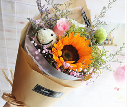 $enCountryForm.capitalKeyWord Australia - Beautiful Rose Sunflower Carnation Artificial Flower Bridal Flowers Bouquet For Girlfriends Graduation Gift Wedding Party Decorations