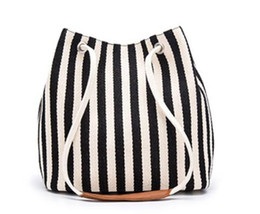 $enCountryForm.capitalKeyWord UK - 2019 summer new fashion hot sale explosions simple canvas bag small fresh striped shoulder slung mobile handbag black