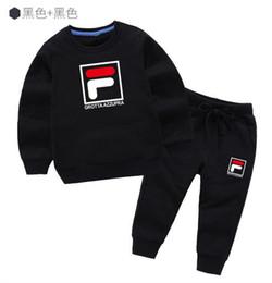 Sweater Coat Kids NZ - classic Luxury Logo Designer Baby t-shirt Pants coat jacekt hoodle sweater olde Suit Kids fashion Children's 2pcs Cotton Clothing Sets #20