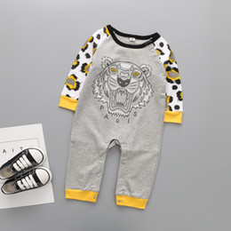 boys black rompers Australia - Baby Boys Long Sleeve Spring Autumn Underwear Pure Cotton Clothing Rompers Cartoon Tiger Jumpsuits Infant Bebe Clothes J190524