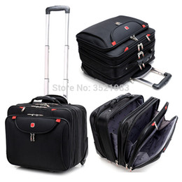 Discount luggage for laptops - Cabin size Rolling Luggage Travel Suitcase Multifunction Business box Carry Ons Laptop Bag Trolley Case for Men and Wome