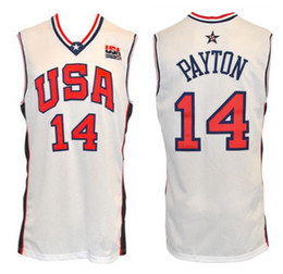 96836b3878a 2000 Olympic Team USA Gary Payton  14 Retro Basketball Jersey Mens Stitched  Custom Any Number Name Jerseys